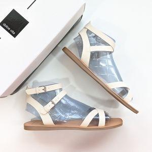 Dolce Vita Camara Flat Strap Sandals White Stella
